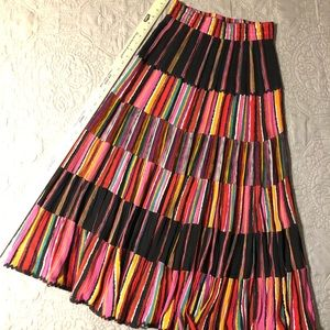 Carole Little 36 inch long colorful skirt